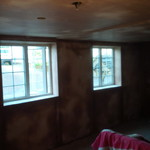 Dry lined and skimmed