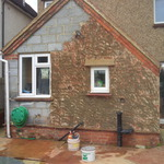 Bare block (Before)/Splased brick