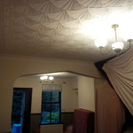 Artex ceiling (before)